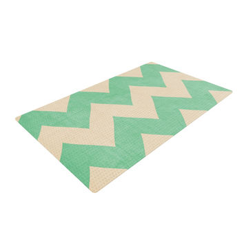 "Catherine McDonald ""Malibu"" Mint Green Woven Area Rug"
