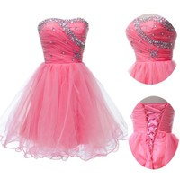 3Color New Formal Homecoming Prom Ball Gown Cocktail Short Party Evening Dresses
