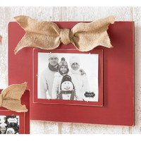 Mud Pie Large Distressed Wood Burgundy Frame