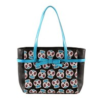 Sugar Skull Tote by Folter Clothing