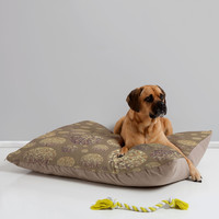 Lisa Argyropoulos Bokeh Dots Cafe Latte Pet Bed