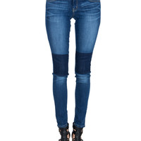 Flying Monkey - Patched Knees Skinny Jeans