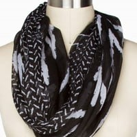 MIXED CHEVRON ETERNITY SCARF