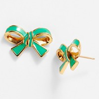 kate spade new york 'finishing touch' bow stud earrings | Nordstrom