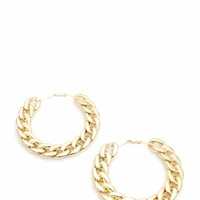 Shiny Oversized Curb Chain Hoops