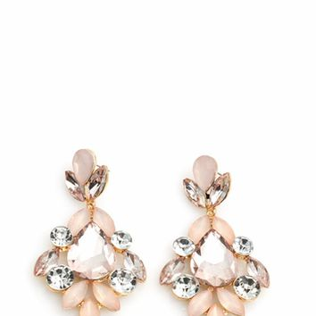 Glamorous Faux Jewel Earrings
