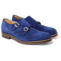 London Collections. Men - Katie Eary x Grenson Suede Monk-Strap Shoes | MR PORTER