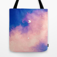 Moon in a Pink Cloud Tote Bag by DuckyB (Brandi)