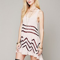Intimately Free People Womens Voile and Lace Trapeze Slip -