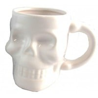 Hollywood Mirror | WHITE SKULL MUG - HOUSEWARES