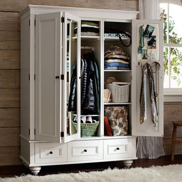 Chelsea Armoire, PBTeen White