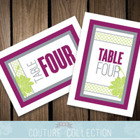 TABLE NUMBERS - Up to 10 - Birchwood - Fully Customizable Custom Color Wedding modern Succulent succulents orchid Printable DIY Digital File