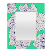 Gabi Hydrangea Mint Rectangular Mirror