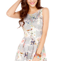 Rehab Floral Bird Print Dress