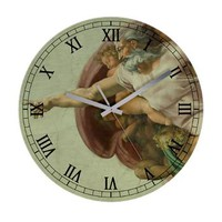 Michelangelo Genesis God Frameless Wall Clock> Clocks> Beautiful Homes
