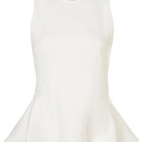 ROMWE Flouncing Sleeveless Zippered White Vest