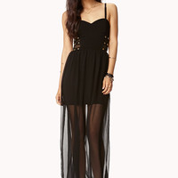 Studded Sweetheart Maxi Dress