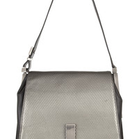 ZAC Zac Posen Loren embossed leather shoulder bag – 56% at THE OUTNET.COM