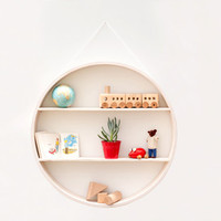 Circular shadow box to display your vintage mid-century home wares! wall hanging plywood shelf furniture wood round wall art modern chic