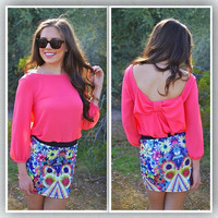 Closet Candy Boutique · Don't Buy Me Flowers Skirt - Neon