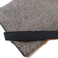 ipad 1 2 3 Case / ipad Cover / Kindle DX / Brown Herringbone Wool