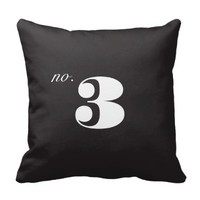 Vintage Number Pillow