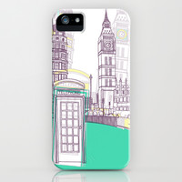 Lovely London iPhone & iPod Case by Bluebutton Studio