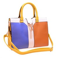 Ol Style Contrast Candy Color Handbag Shoulder Bag
