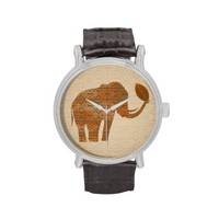 Elephant Tribal Art Design Watches