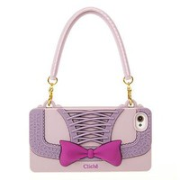 Chic Stylish Handbag Bowknot Cross Print Soft Phone Case for Iphone4/4s