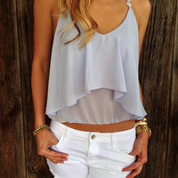 Flower Strap Crop Top