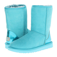 UGG Classic Short Metallic Patent Blue Curacao Twinface - Zappos.com Free Shipping BOTH Ways