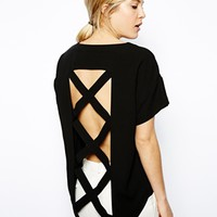 ASOS Top with Open Cage Back