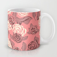 Bright Pink Roses Mug by Ornaart