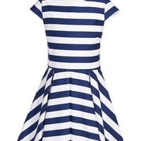 Maria Casero Stripe Dress (Big Girls) | Nordstrom
