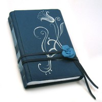 Midnight Blues  Dark Blue Leather Journal by Baghy on Etsy