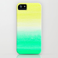 WHEN YELLOW MET TURQUOISE iPhone & iPod Case by Rebecca Allen