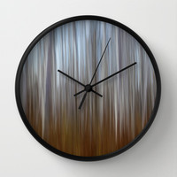 In to the trees.. Wall Clock by Bruce Stanfield