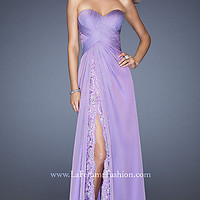 Full Length Strapless Sweetheart Gown