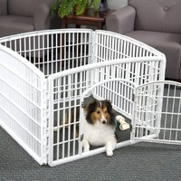 IRIS Indoor/Outdoor Plastic Pet Pen with 4 Panels