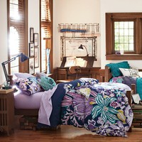 Jolie Duvet Cover + Sham, Purple Multi