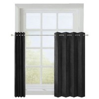 Maytex Suede Accordion Kitchen Tier Window Panels