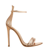 Gianvito Rossi Metallic Leather Sandal - Gold Sandals - ShopBAZAAR