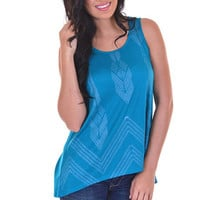 Closet Candy Boutique · Twins Peak Top - Teal