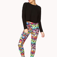 Forever Cool Graffiti Leggings