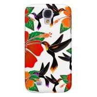 Hummingbird and Hibiscus Batik Samsung Galaxy S4