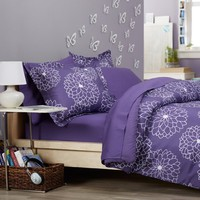 Pinzon Bed in a Bag, Twin, Purple Floral