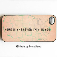 iphone case Home Is Wherever I'm With you Wanderlust by MursBlanc
