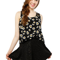 Papaya Clothing Online :: FLORAL FRONT BOW CHIFFON SLEVELESS TOP