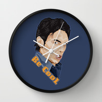 James Fanco Be Cool Decorative Circle Wall Clock Watch by Three Second